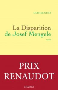 La Disparition de Josef Mengele_couverture