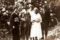 Clemenceau, Monet et Mme Kuroki, juin 1921 - Coll. Musée Clemenceau