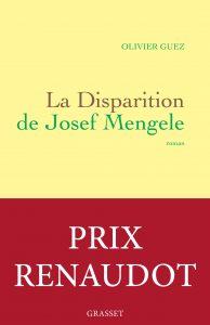 La Disparition de Josef Mengele_couverture