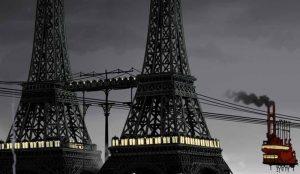 「エイプリルと奇妙な世界」、クリスチャン・デマレス、フランク・エカンシ共同監督  « Avril et le Monde Truqué », de Christian Desmares et Franck Ekinci © Studio Canal