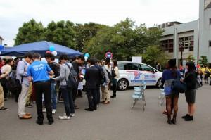 Rencontre avec les étudiants de Keio sur le campus de Hiyoshi