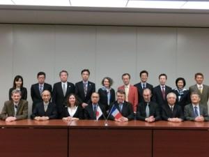 Les représentants de la CPU et de la CDEFI accueillis au Japon par la JANU, le 11 avril 2014.
