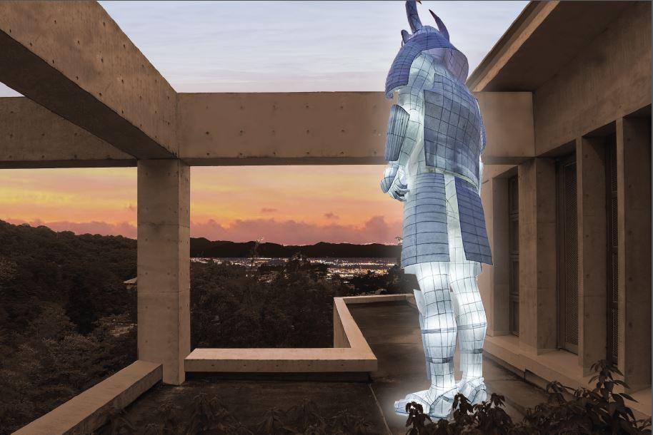 2014年秋にリニューアル・オープンしたヴィラ九条山(アーティスト・イン・レジデンス)で披露されたジョゼ・レヴィの作品 © José Levy