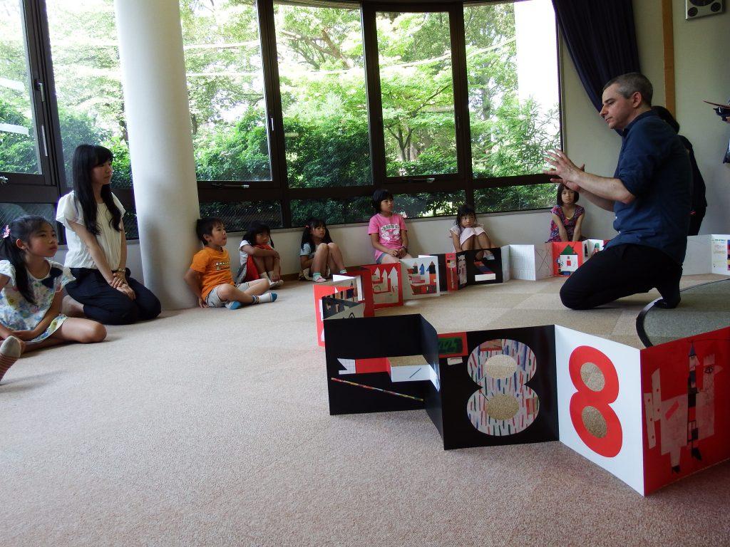 Atelier pour les enfants à la bibliothèque Nakamura, Nagoya / 名古屋市中村図書館でのワークショップ